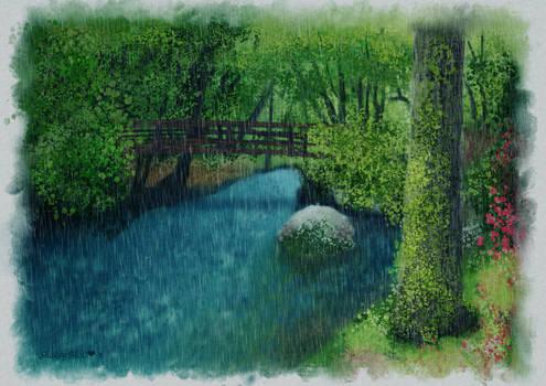 Rainy Day Krita Creek Bridge