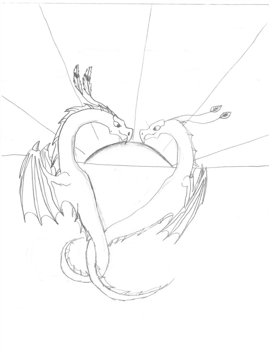 dragons in love by stonefury12 on deviantart