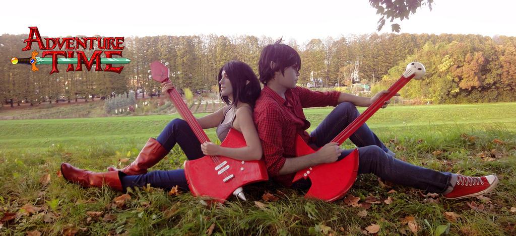 Marceline and Marshall Lee by ElyNeko