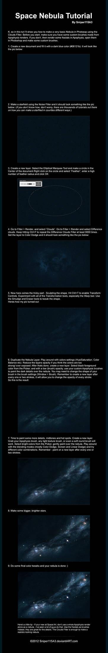 Space Nebula Tutorial by Sniper115A3