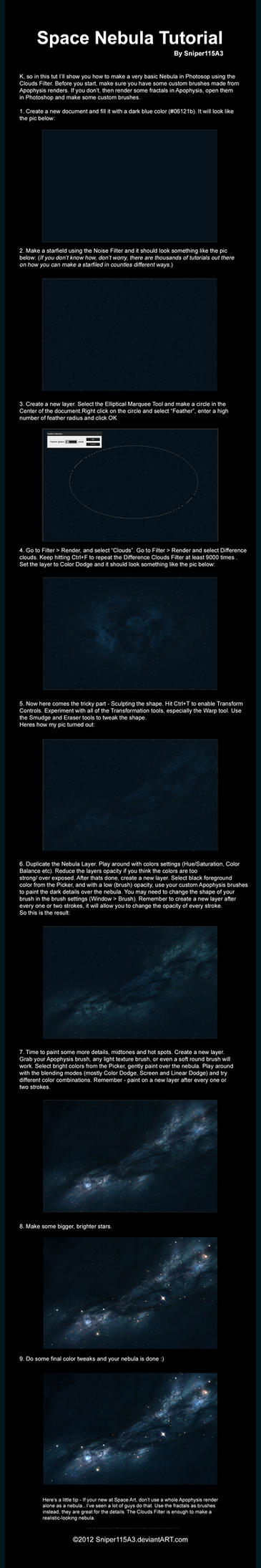space nebula tutorial by sniper115a3 on deviantart