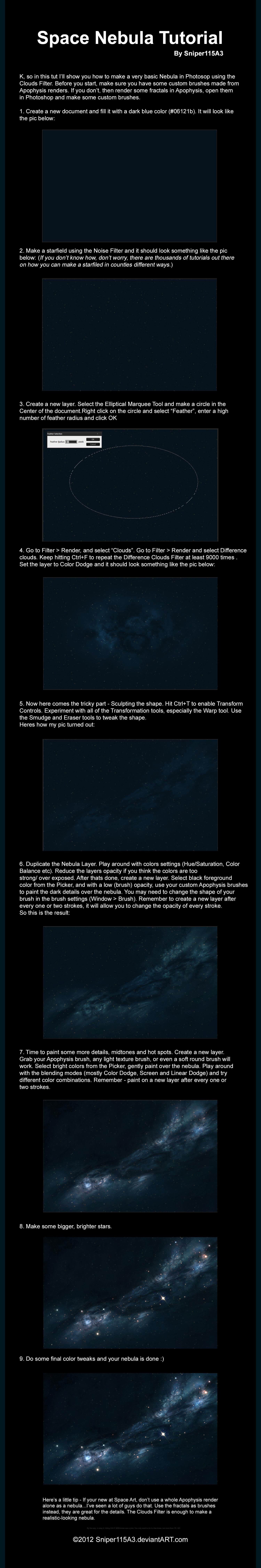 Space Nebula Tutorial