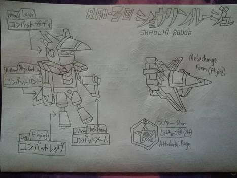 Shaolin Rouge RAI-3G-Type Medarot