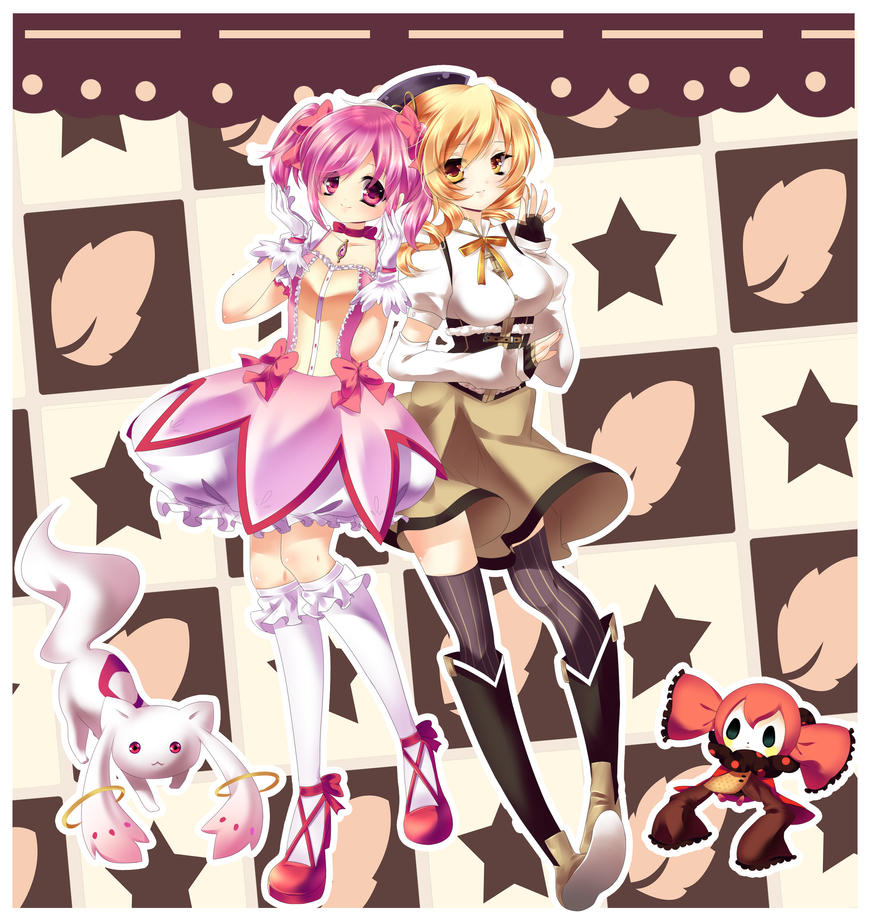 FB: Madoka and Mami by nyan-shop