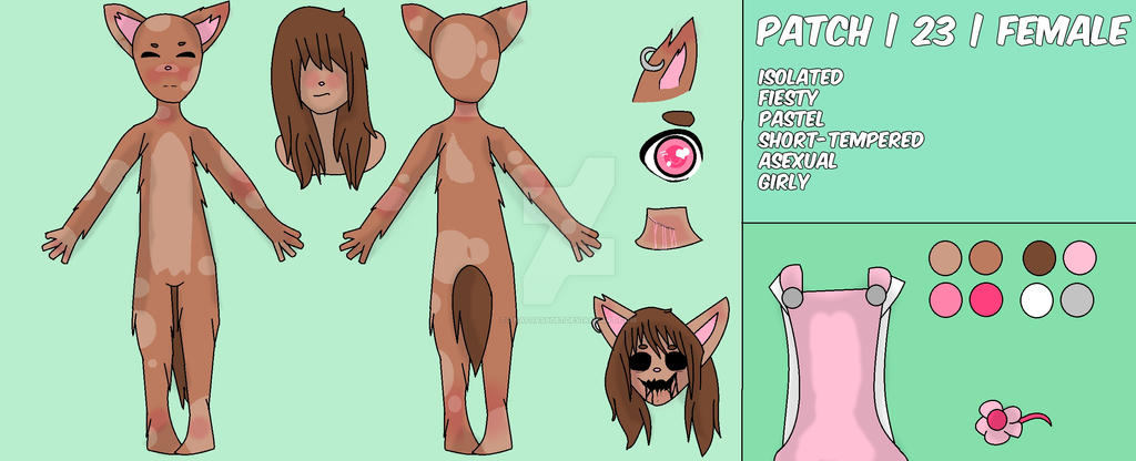 Patch's reference sheet by FNAFJas9087