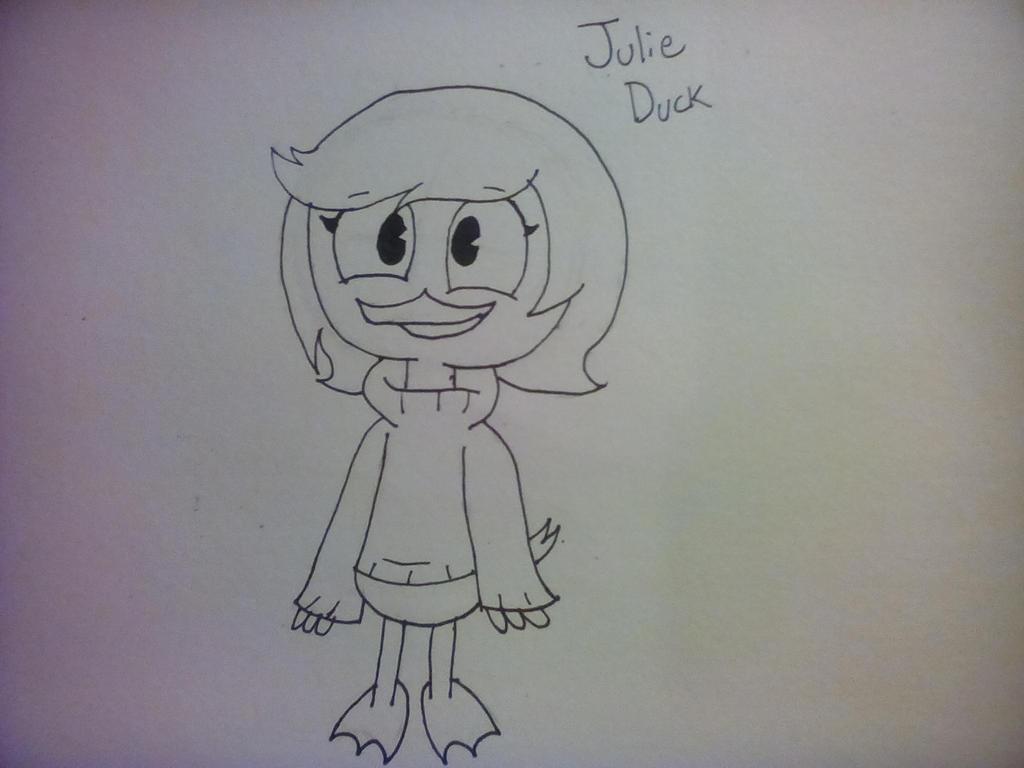 Ducktales OC-Julie Duck by MilkyWayOreo