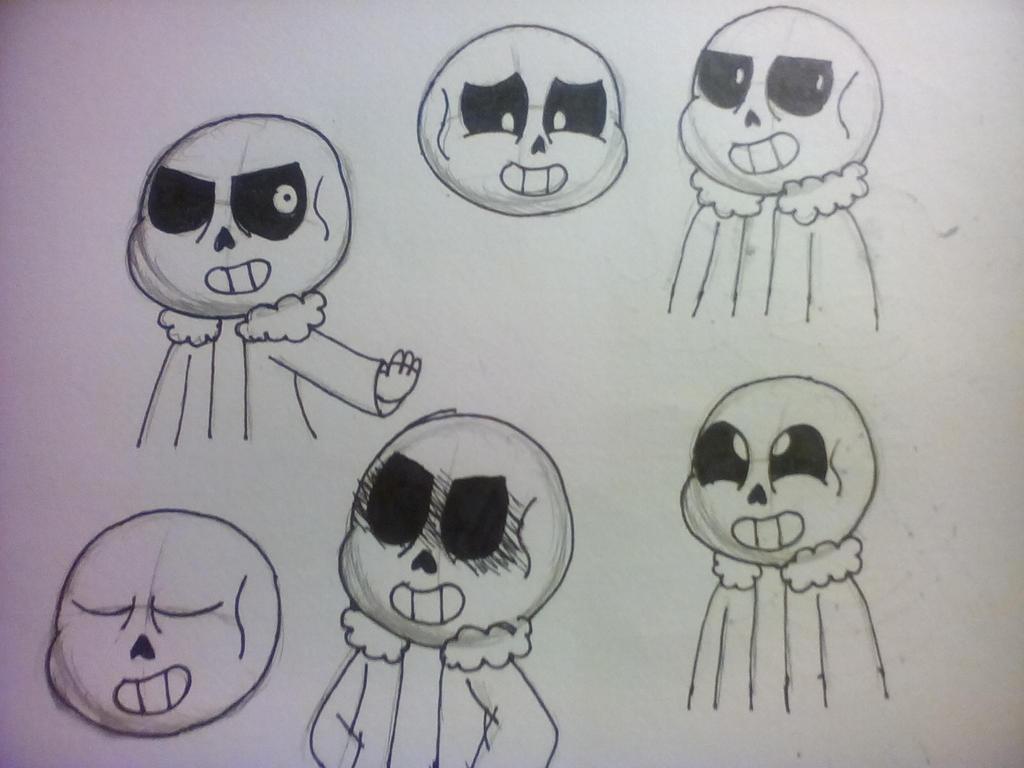 Undertale-Sans Sketch Dump by MilkyWayOreo