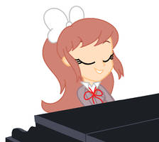 DDLC-Monika playing the piano by CreativeFoxx13