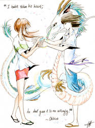 Human, Spirit, and Dragon by cynthiarox66