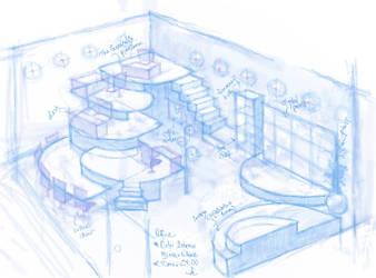 Interior Design: Futuristic Office by cynthiarox66