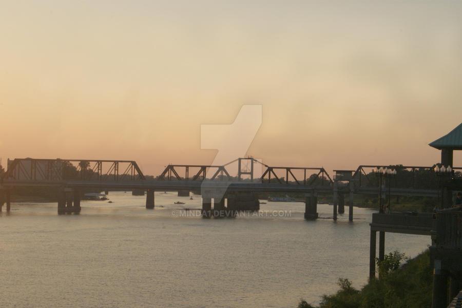 Sunset On The Bridge by Minda1