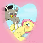 Discord and Fluttershy in heaven