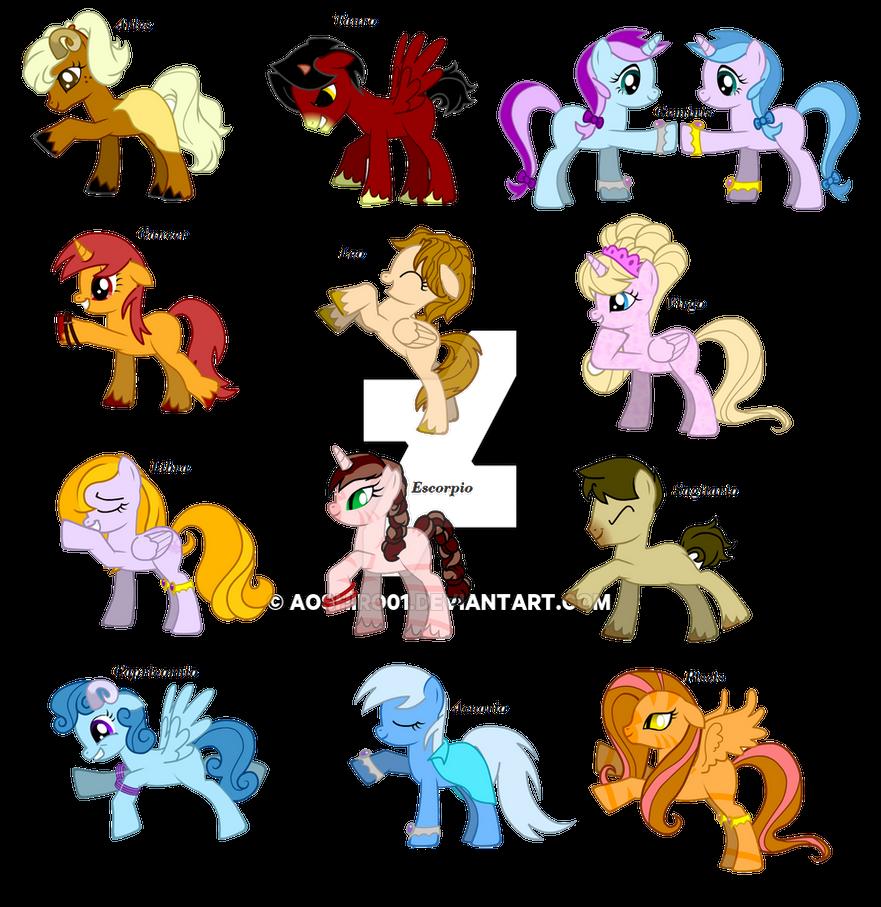 Signos del zodiaco ponies by aoshiro01 on deviantart - Signo del sodiaco ...