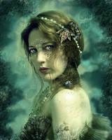 Mermaid Behind Her Mask by GingerKellyStudio