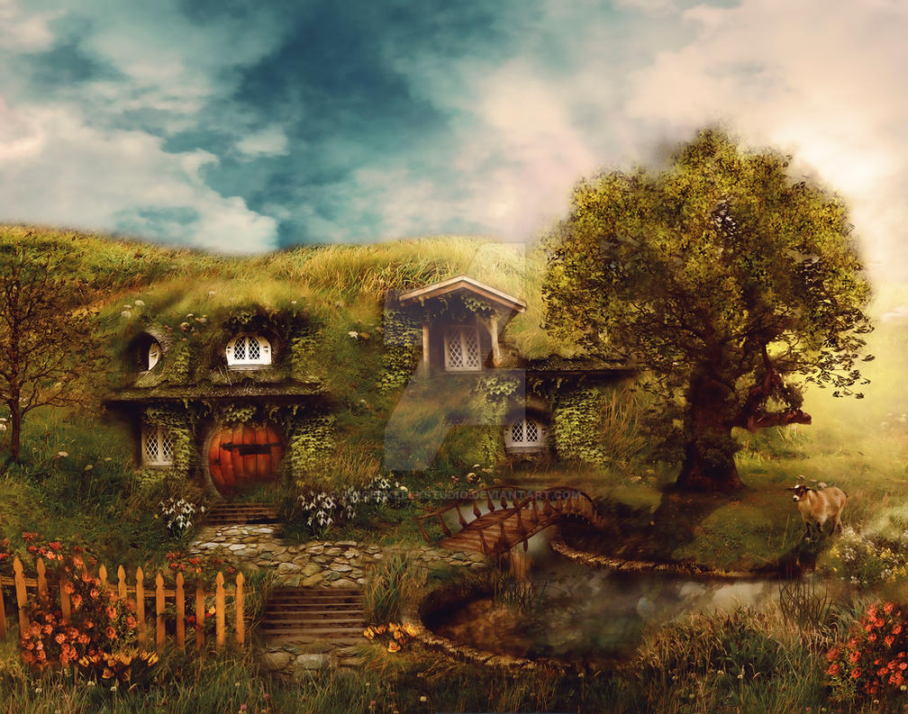 The Shire: A Hobbit House by GingerKellyStudio on DeviantArt