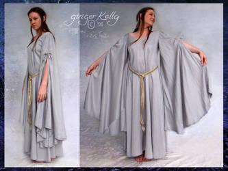 Silver Fantasy Gown by GingerKellyStudio