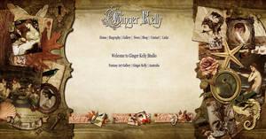 Ginger Kelly Website Concept