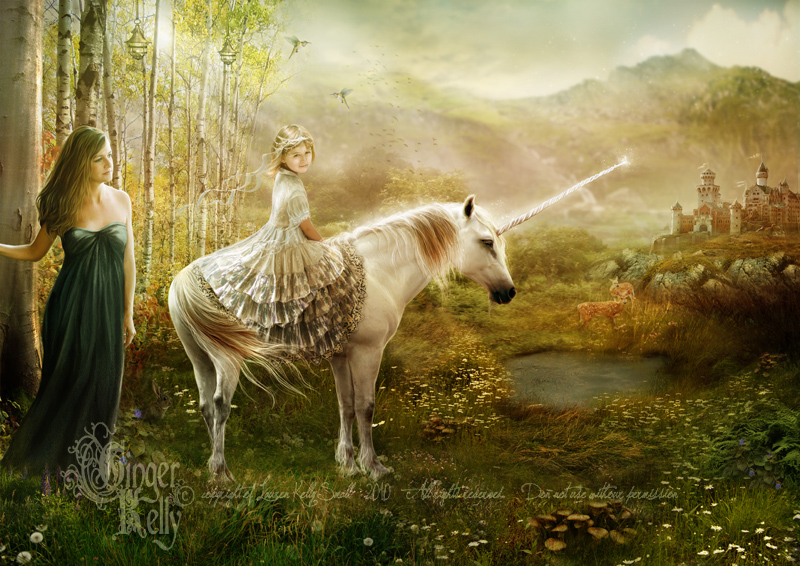 Unicorn Princess by GingerKellyStudio