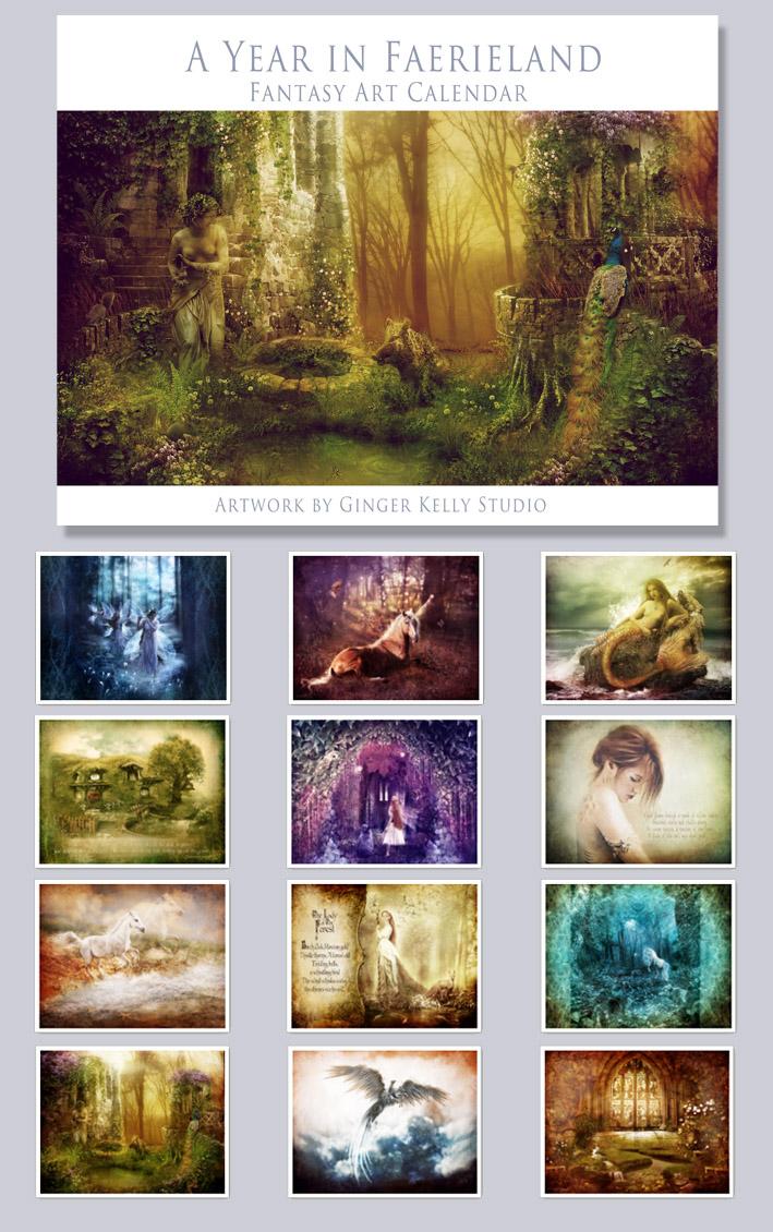 A Year in Faerieland Calendar by GingerKellyStudio