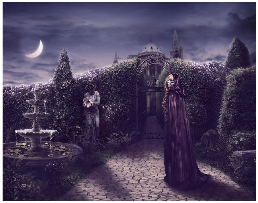 A Moonlit Garden By GingerKellyStudio ...
