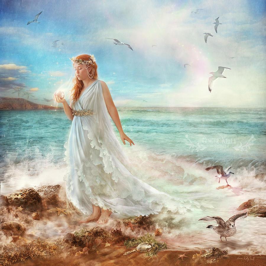 Maiden of Seafoam by GingerKellyStudio