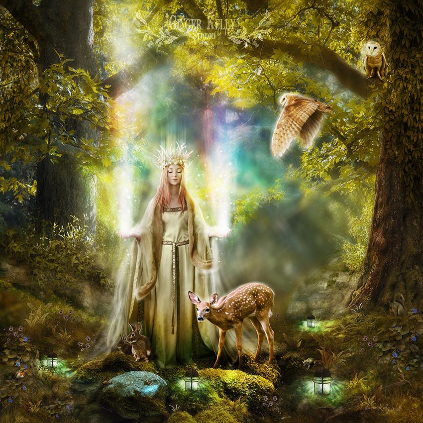 Faerie Queen of Light by GingerKellyStudio