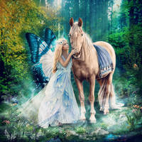 The Blue Fairy and Her Pony