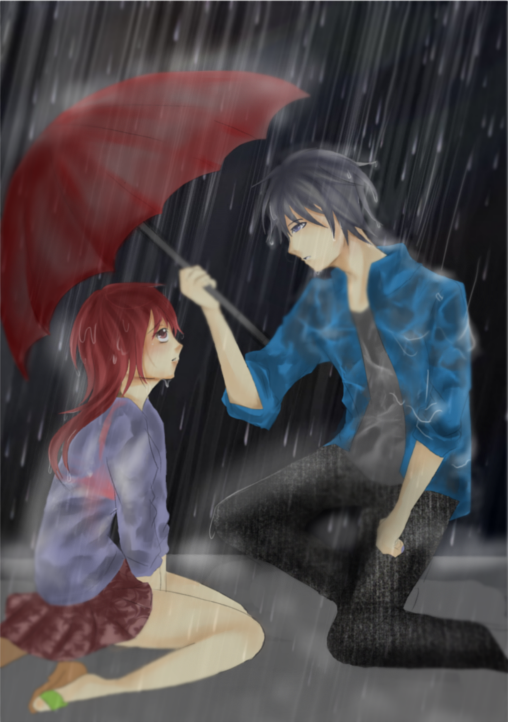 Rain Couple by khanachi on DeviantArt