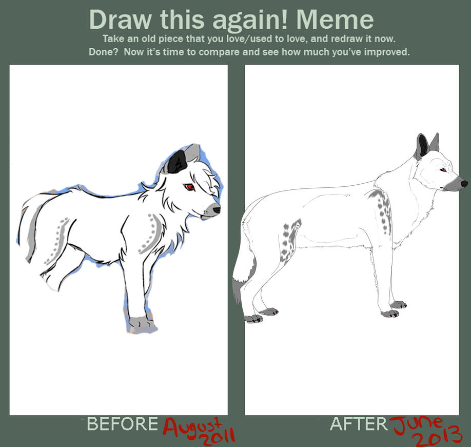Draw this again meme by featheredreaper on deviantart for Draw this again meme template
