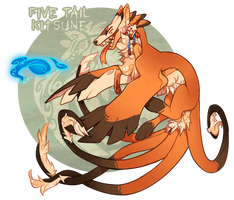 Five Tail Kitsune - Auction (CLOSED) by GentleLark