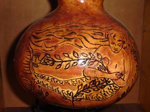 Mermaid gourd vase