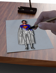 Drawing of a Drawer Drawing Superman by Sirius1066
