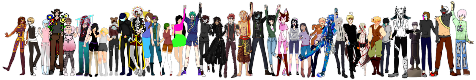 Collab OC Group [April Edition] (by MrGlitter) by G4CEsz-Artique