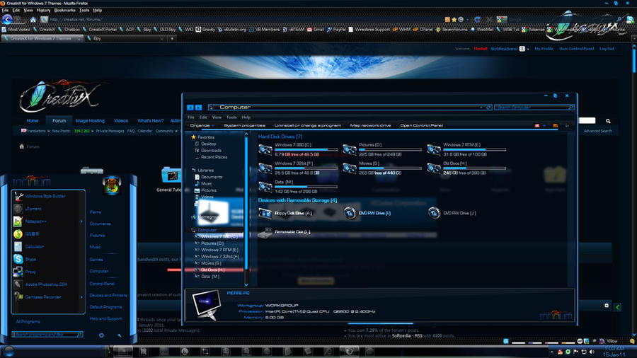 windows 7 themes infinium by the bull
