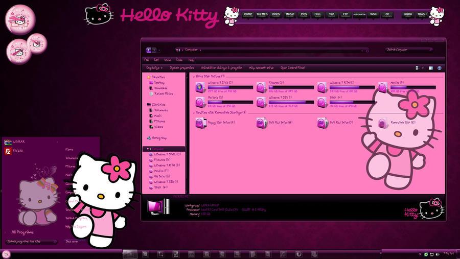 Hello Kitty Windows 7 Theme By Thebull1 On Deviantart