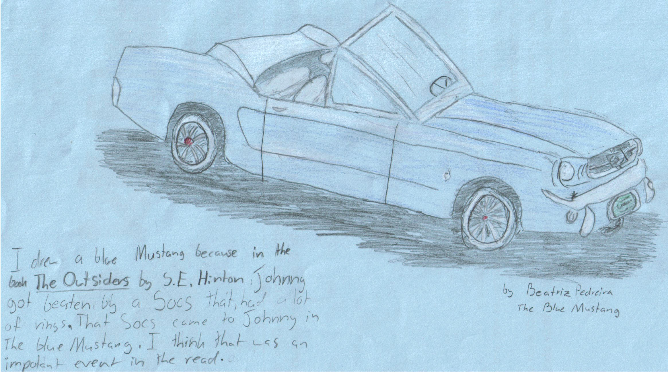 The Blue Mustang by Bluefoxv3 on DeviantArt