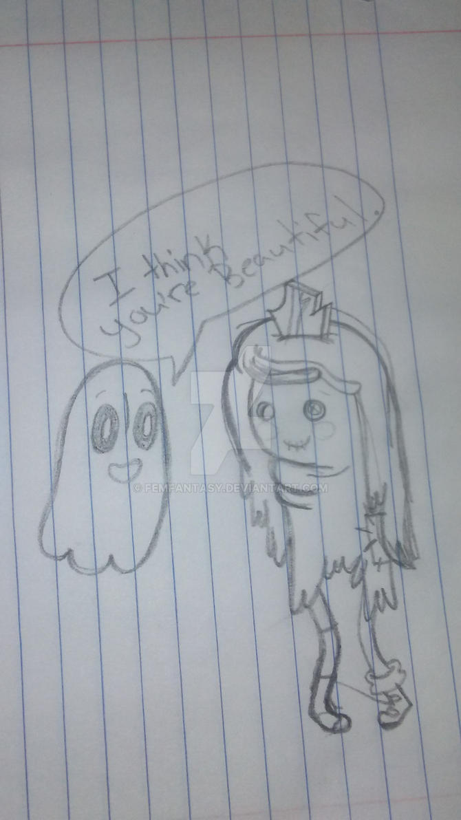 napstablook and Raggedy Princess by FemFantasy