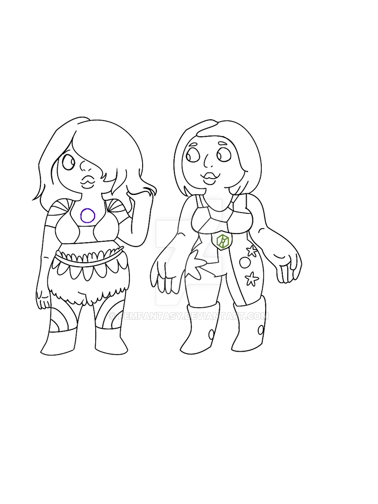 Amethyst And Sphene Steven Universe OC by FemFantasy