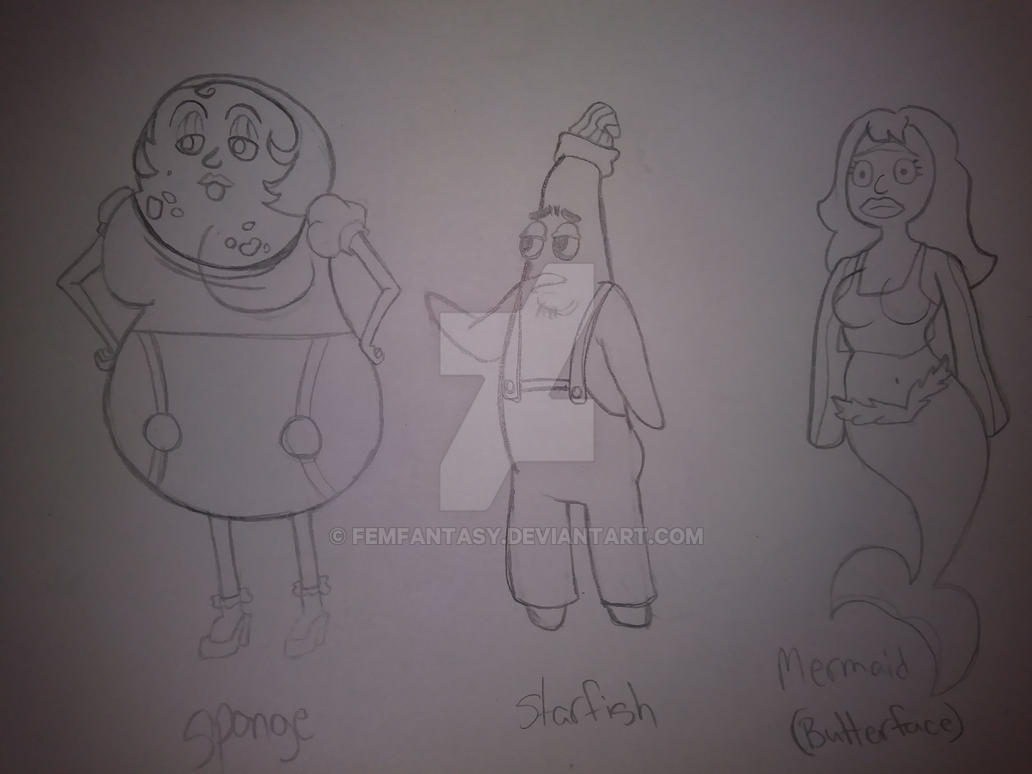 My Spongebob OCs 2 by FemFantasy