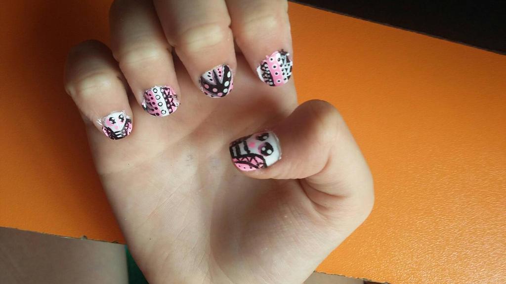 Girly Nail Art By Kateyfoxy On Deviantart