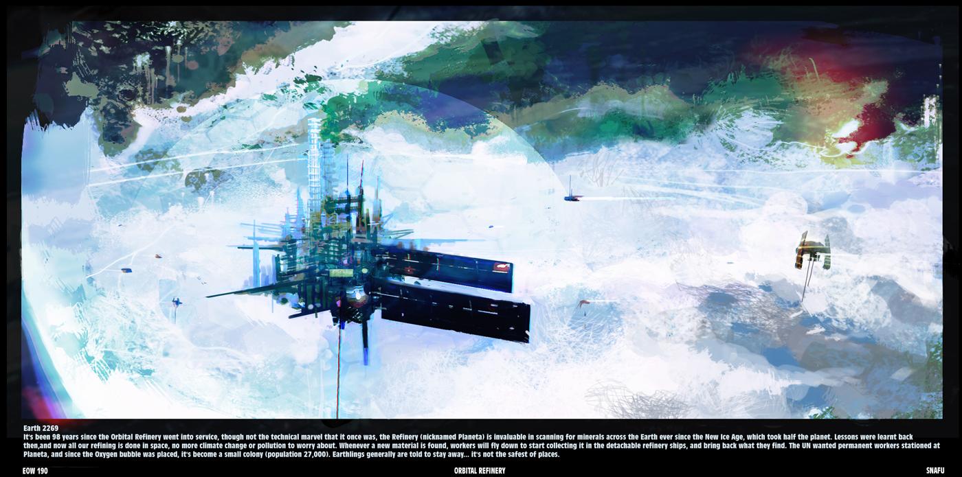 CROSSOVER- E.O.W. Round #190/ I.D.W. Round #206- Orbital Refinery