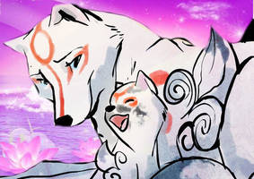 Okami: Mother and Baby by RufusShinrareno