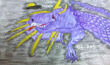 Thunder dragon by RufusShinrareno