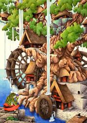 Watermill by koimaki