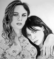 Emily and Zooey Deschanel by Erikagieseke