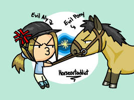 Chibi evil belle and me XD by horseartaddict
