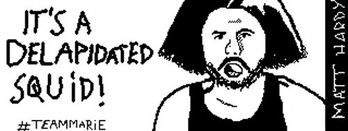 Miiverse Doodle - Delapidated Squid (Improved) by JusticeColde