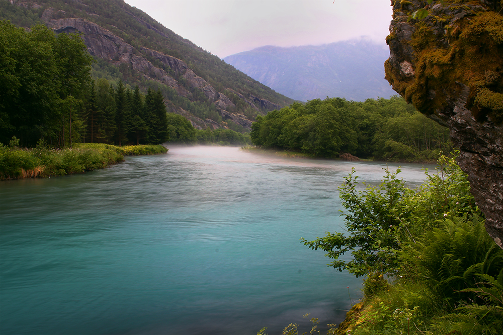 Blue river - Norway by Nevermaketherules