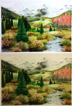 A Forest Fantasy - Colored Pencil Long Draw.