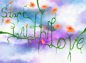 Start With Love project art-
